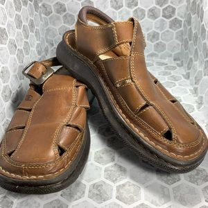 83b4817c7 Born Men s Leather Fisherman Sandals Brown 8   41